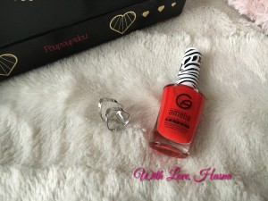 Beautiful Box Janvier 2016 vernis rouge