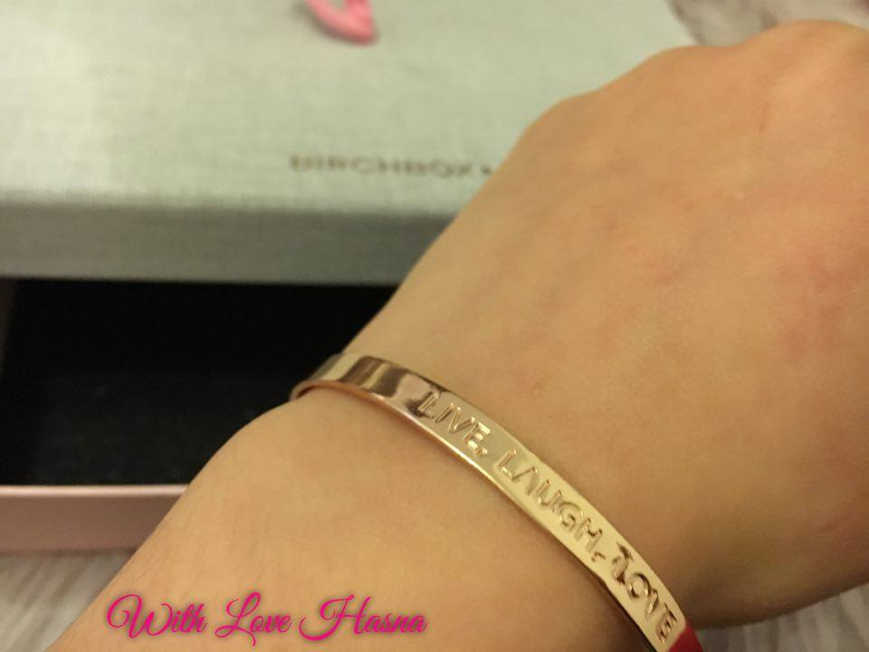 BirchBox Fevrier 2016 contenu bracelet