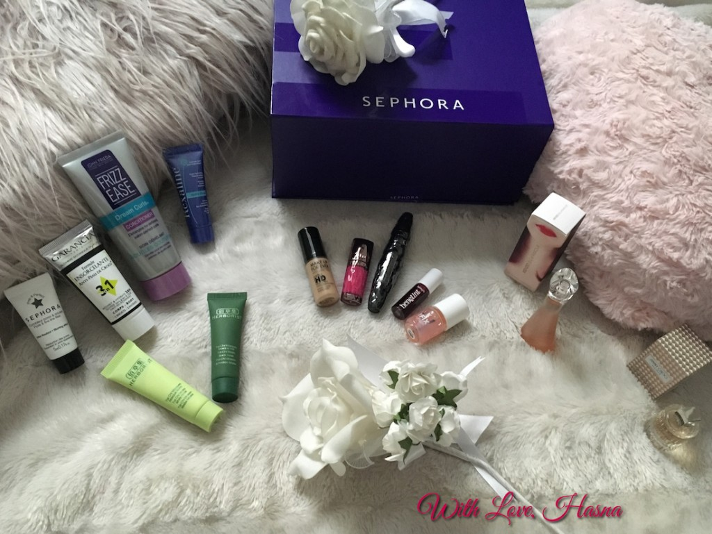 SephoraBox Hollywood mars 2016 contenu