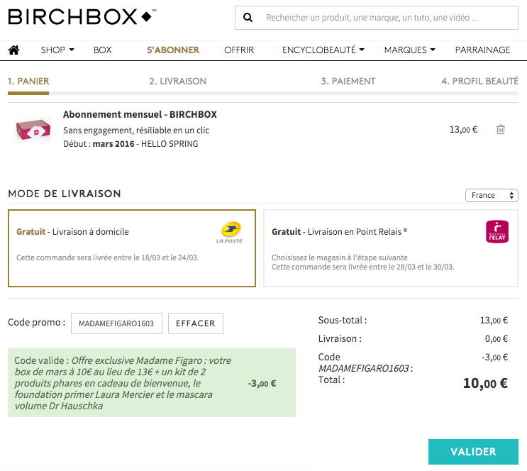 birchbox code promo mme figaro MADAMEFIGARO1603_