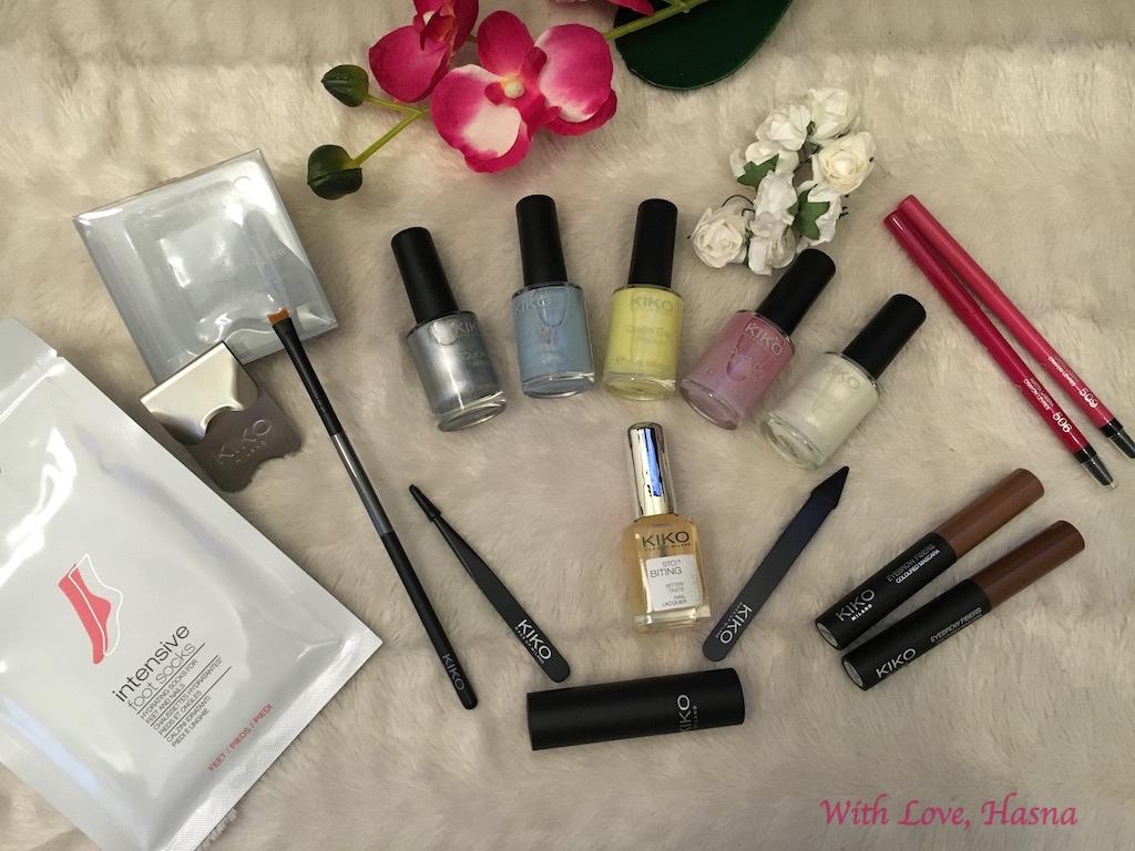 Haul Revu Kiko Cosmetics Hall ongles sourcils pieds levres_