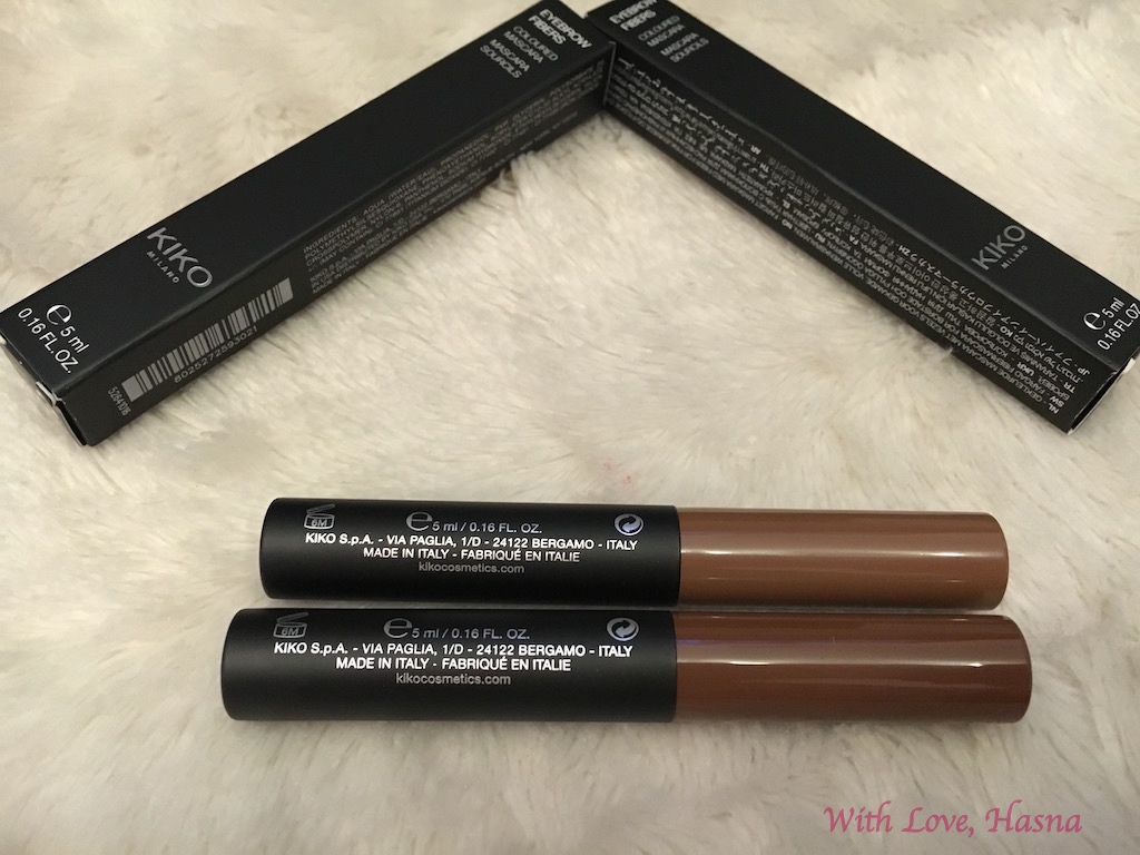 Haul Revu Kiko Cosmetics eyebrow fiber colored mascara 2_
