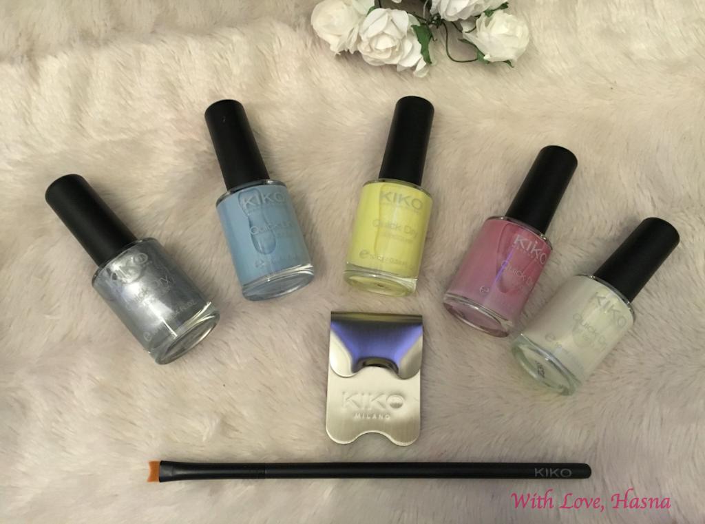 Haul Revu Kiko Cosmetics produits ongles vernis couleurs soiree estivale ete pinceau french accessoire_