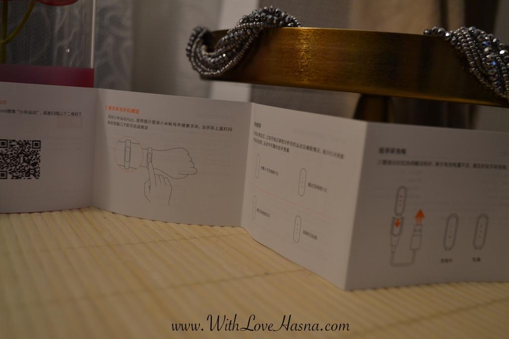 livret nombre de pas Xiamo Mi Band Bracelet conne