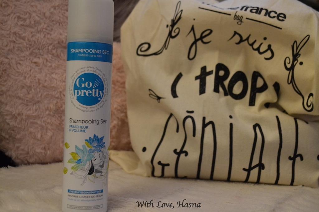 mf bag Mars 2016 shampoing sec Go pretty Fraicheur et volume é_