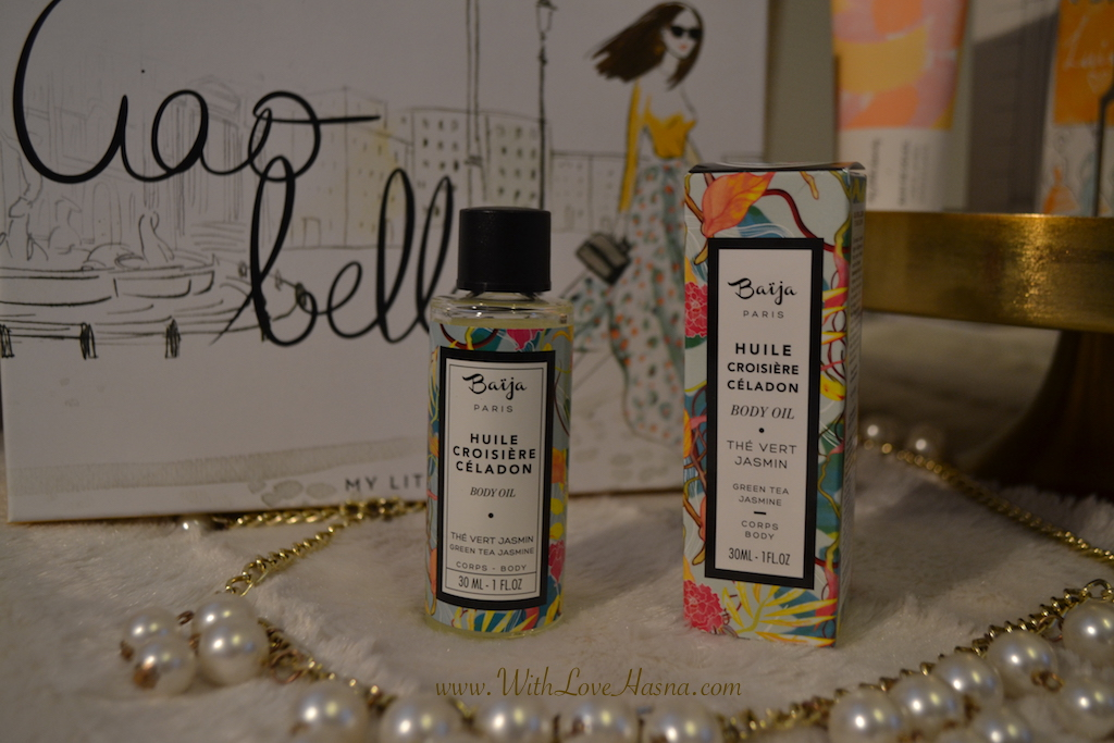 My Little Ciao Bella Box Huile Croisiere Céladon Thé vert Jasmin Corps Body Oil Baiija