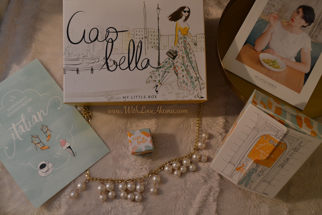 My Little Ciao Bella Box detail contenu goodies magazine