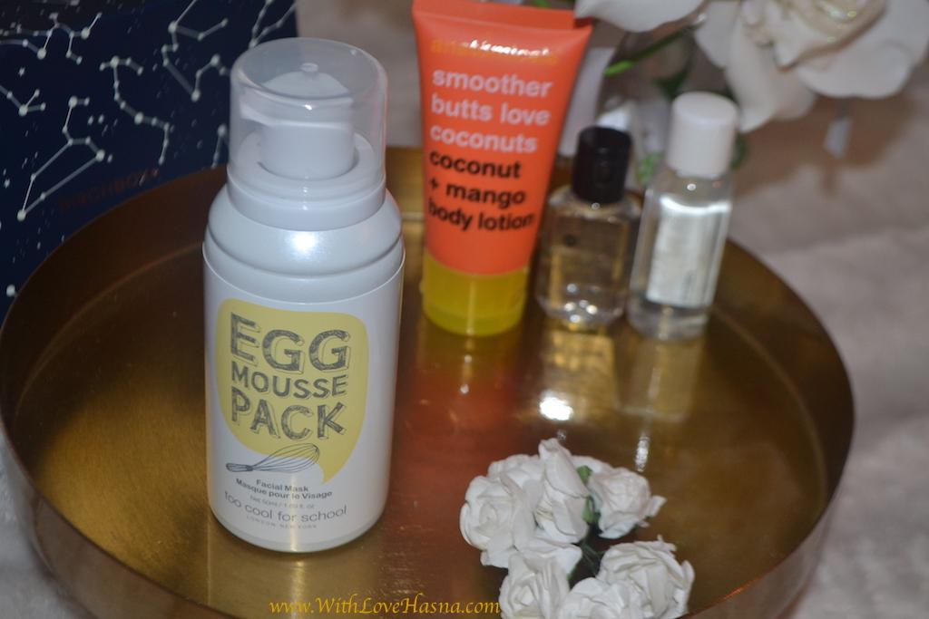 BirchBox Juillet 2016 - A la belle etoile - contenu Code promo bon plan masque mousse Egg Mousse Pack de la marque Too Cool For School