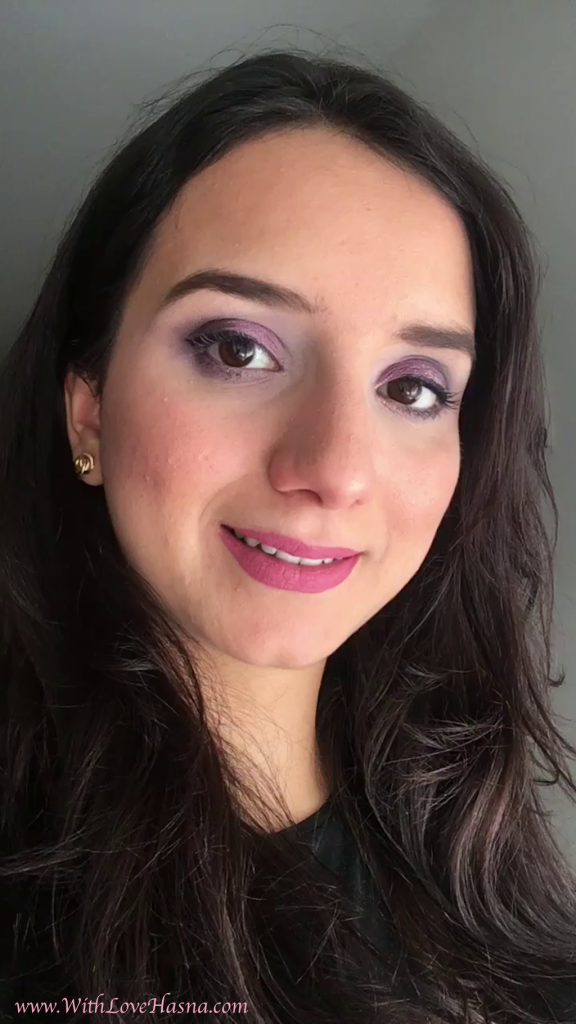 MSC - monday shadow challenge - maquillage yeux marrons foncés - mauve -00001