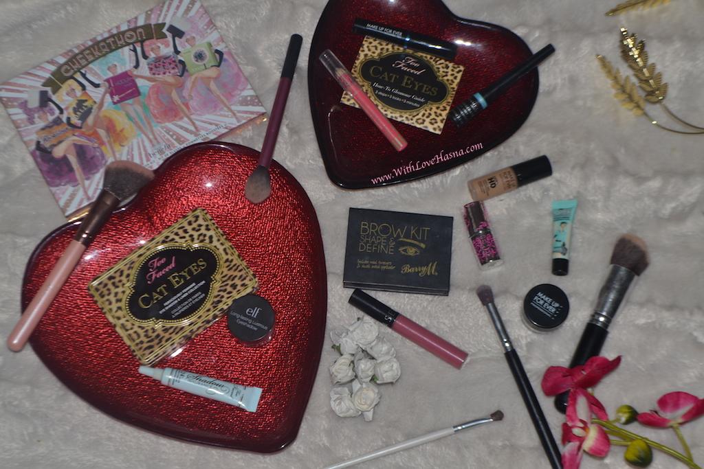 MSC - monday shadow challenge - maquillage yeux marrons foncés - mauve - Les produits utilises