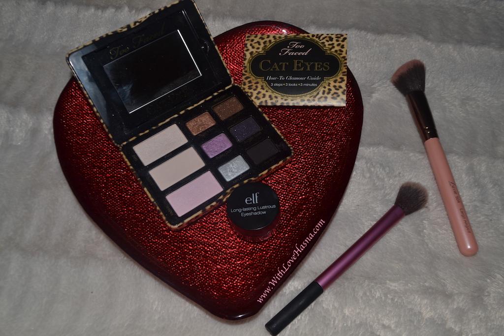 MSC - monday shadow challenge - maquillage yeux marrons foncés - mauve - Les produits yeux utilises - 00005