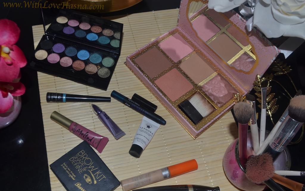Monday Shadow Challenge MSC Bleu Canard Teal - Produits utilisés MakeUp